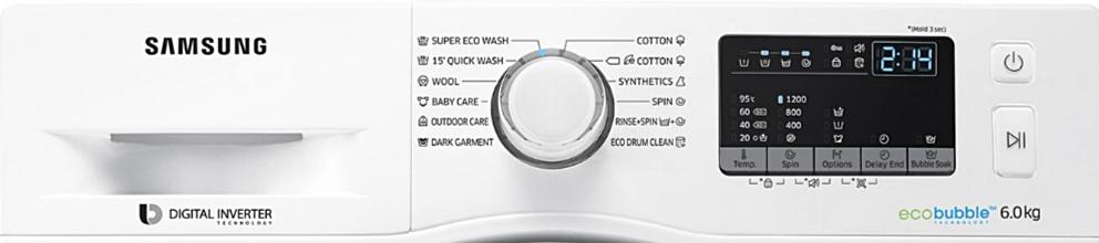 Samsung Eco Bubble WW60J4210LWLE programe functii