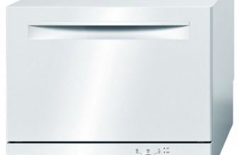 Bosch SKS51E22EU, Masina de spalat vase compacta, 6 Seturi, 5 Programe, 55 cm, Clasa A+, Alb