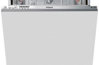 Hotpoint LTB4B019, Masina de spalat vase incorporabila, 13 seturi, 4 Programe, Clasa A+, 60 cm