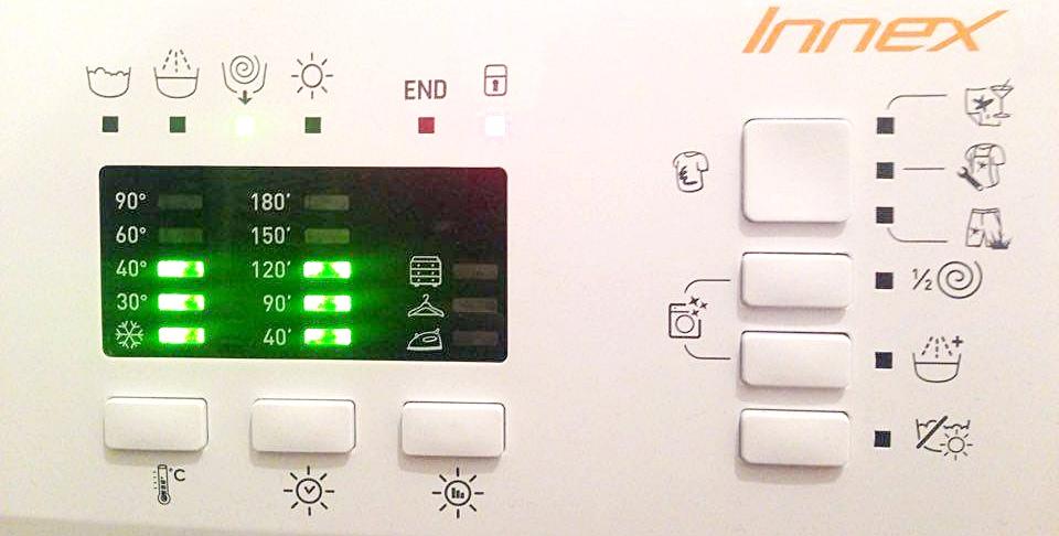 Display LED Indesit Innex XWDE 961480X