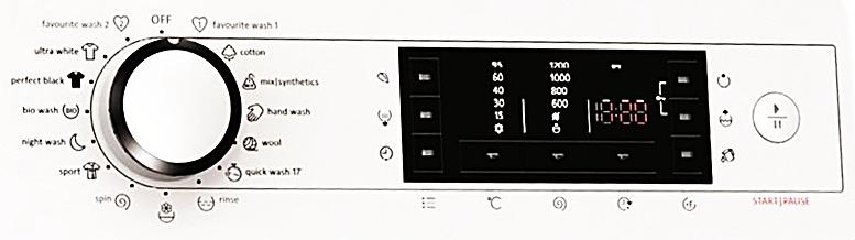 Gorenje W6523S functii si programe