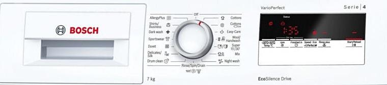 Bosch WAN24160BY panou comenzi si programe