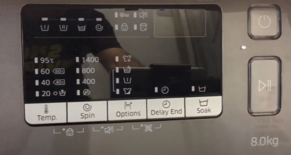panou optiuni Samsung Add Wash WW80K44305X/LE