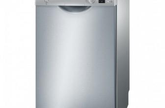 Bosch SPS53E18EU, Masina de spalat vase, 9 seturi, 5 programe, 45 cm, Clasa A+, Argintiu/Inox