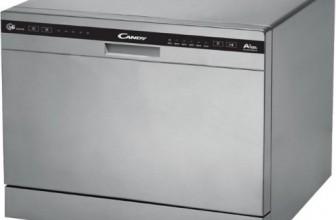 Candy CDCP 6/E-S, Masina de spalat vase, 6 seturi, 6 programe, Clasa A+, 55 cm, Argintiu